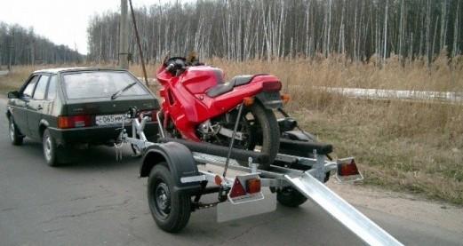 Прицеп для перевозки мототехники